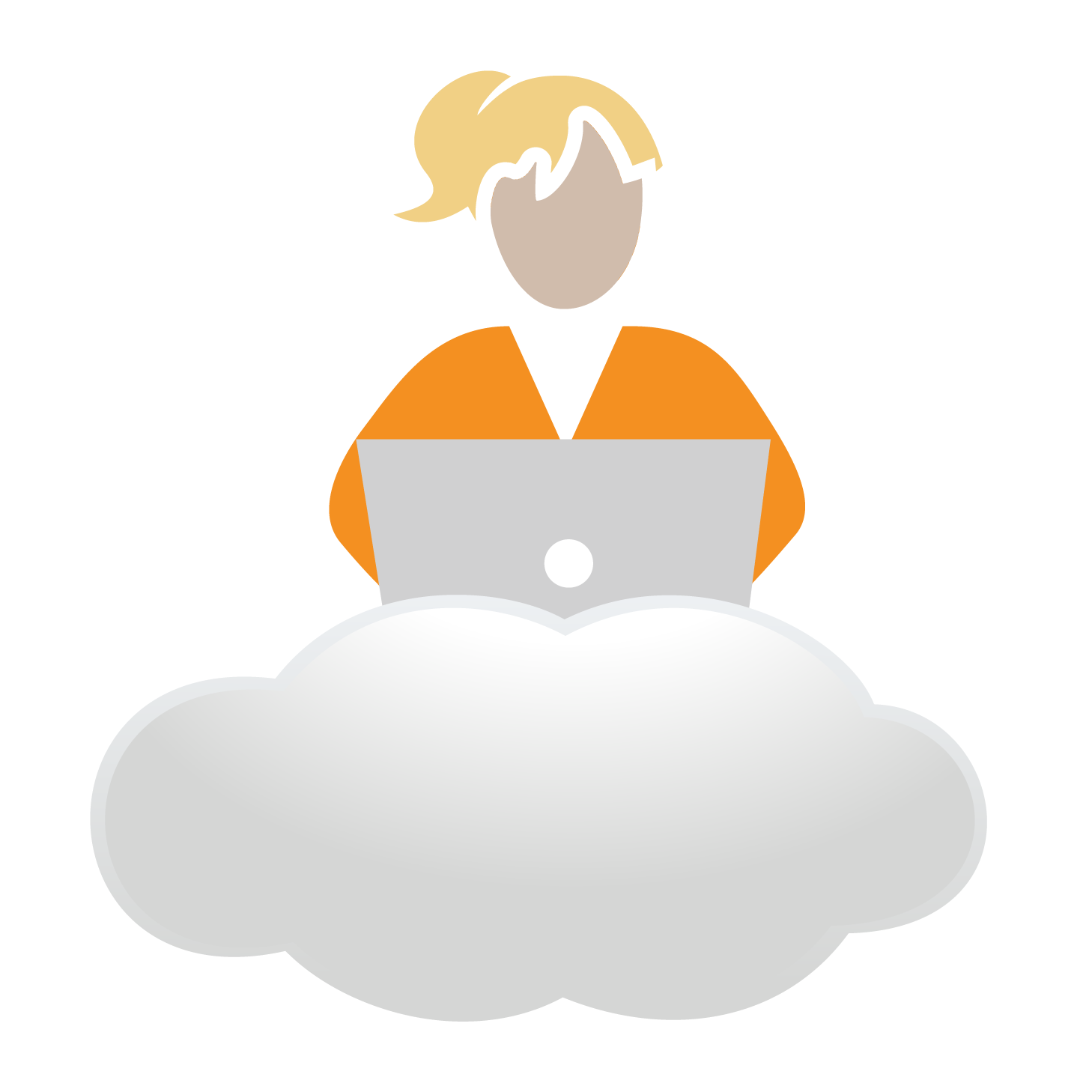Orange Cloud Girl